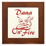 Dana On Fire Framed Tile