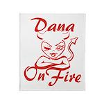 Dana On Fire Throw Blanket