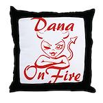 Dana On Fire Throw Pillow