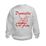 Danielle On Fire Kids Sweatshirt