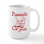 Danielle On Fire Large Mug