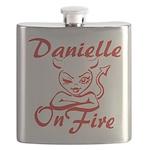 Danielle On Fire Flask