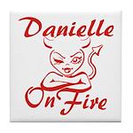 Danielle On Fire Tile Coaster