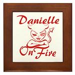 Danielle On Fire Framed Tile
