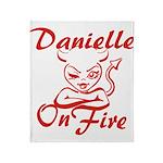 Danielle On Fire Throw Blanket
