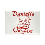 Danielle On Fire Rectangle Magnet