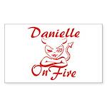 Danielle On Fire Sticker (Rectangle)