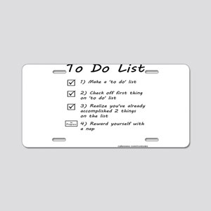 To Do List Aluminum License Plate