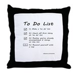 To Do List Throw Pillow