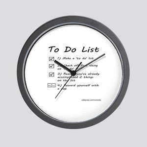 To Do List Wall Clock