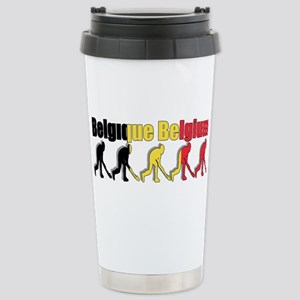 Belgium Field Hockey Stainless Steel Travel Mug
