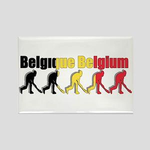 Belgium Field Hockey Rectangle Magnet