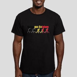 Belgium Field Hockey Men's Fitted T-Shirt (dark)