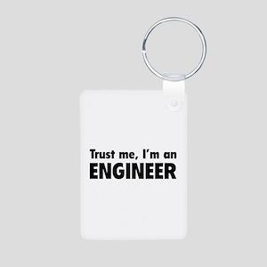 Trust me, I'm an engineer Aluminum Photo Keychain