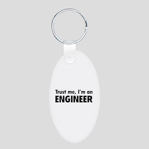Trust me, I'm an engineer Aluminum Oval Keychain