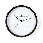 Adios Bitchachos Wall Clock