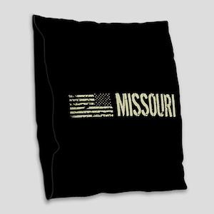 Black Flag: Missouri Burlap Throw Pillow