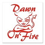 Dawn On Fire Square Car Magnet 3