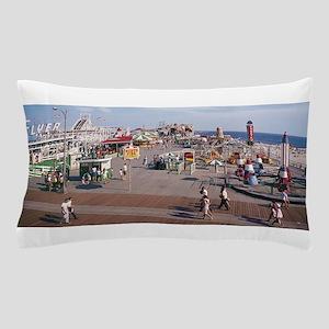 Hunts Pier Wildwood, NJ from the1960s Pillow Case