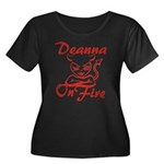 Deanna On Fire Women's Plus Size Scoop Neck Dark T