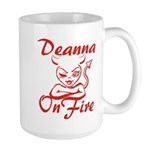 Deanna On Fire Large Mug