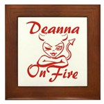 Deanna On Fire Framed Tile