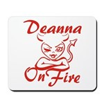 Deanna On Fire Mousepad
