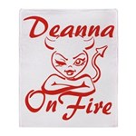 Deanna On Fire Throw Blanket