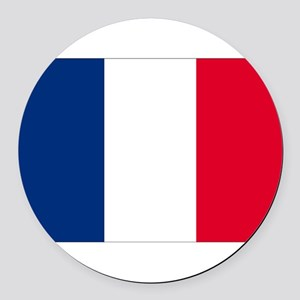 France Round Car Magnet