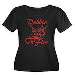 Debbie On Fire Women's Plus Size Scoop Neck Dark T
