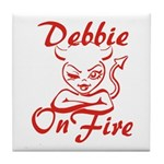 Debbie On Fire Tile Coaster