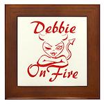 Debbie On Fire Framed Tile