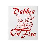 Debbie On Fire Throw Blanket