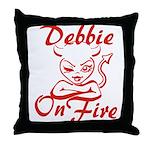 Debbie On Fire Throw Pillow