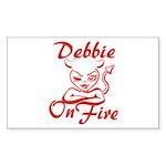 Debbie On Fire Sticker (Rectangle)