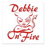 Debbie On Fire Square Car Magnet 3