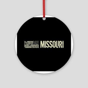 Black Flag: Missouri Round Ornament