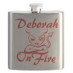 Deborah On Fire Flask
