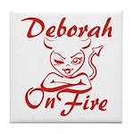 Deborah On Fire Tile Coaster
