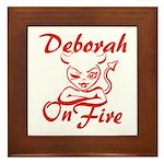 Deborah On Fire Framed Tile