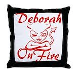 Deborah On Fire Throw Pillow