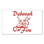 Deborah On Fire Sticker (Rectangle)
