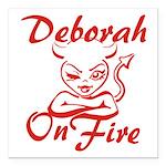 Deborah On Fire Square Car Magnet 3