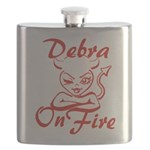 Debra On Fire Flask