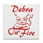 Debra On Fire Tile Coaster