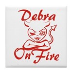 Debra On Fire Tile Coaster