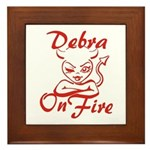 Debra On Fire Framed Tile