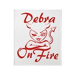 Debra On Fire Throw Blanket