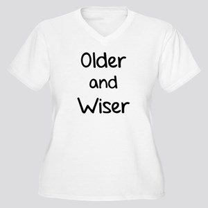 Older and Wiser Women's Plus Size V-Neck T-Shirt
