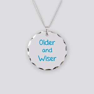 Older and Wiser Necklace Circle Charm
